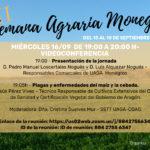 Semana Agraria Monegros 2020: Programa 16 Septiembre