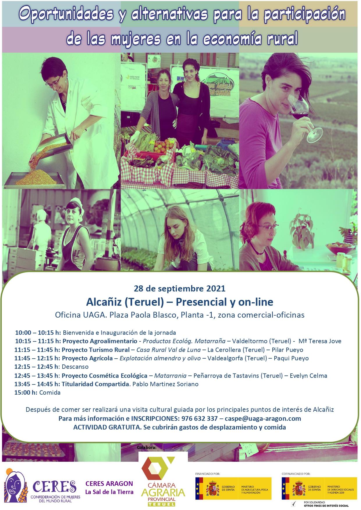 Oportunidades de las mujeres en la economía rural en Alcañiz